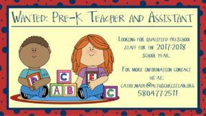 Teacher Wanted & Assistant